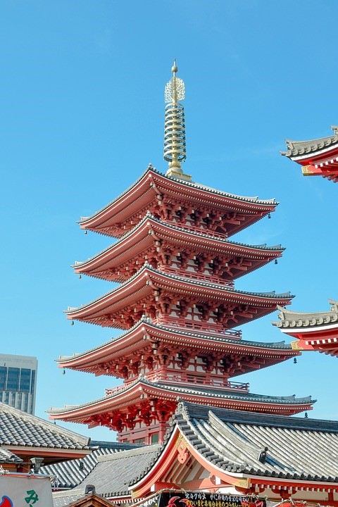 Japanese Traditional Gardens And The Pagoda Yabai The Modern Vibrant Face Of Japan
