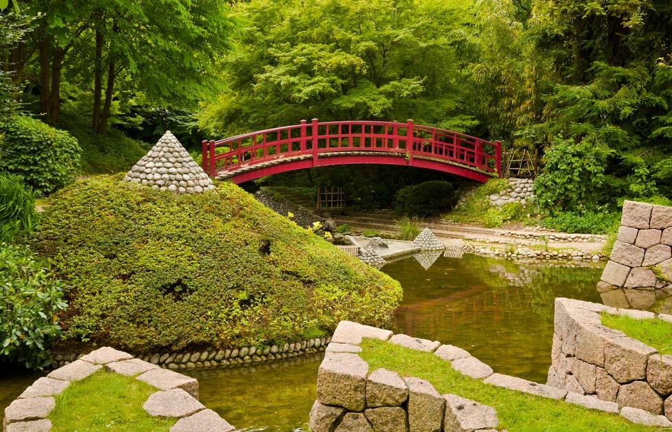 Japanese Traditional Gardens And The Pagoda Yabai The Modern