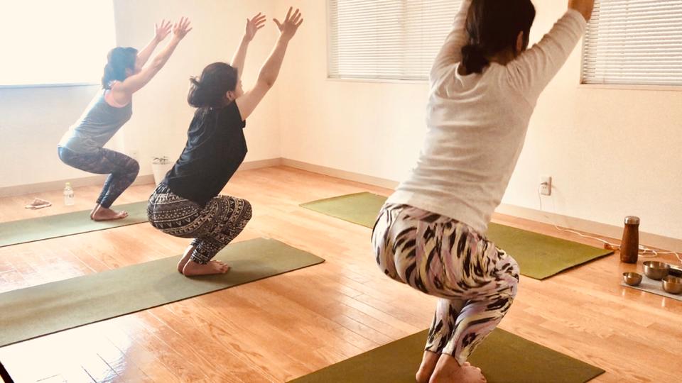 Yoga parama (ヨガパラマ)のレッスン風景1