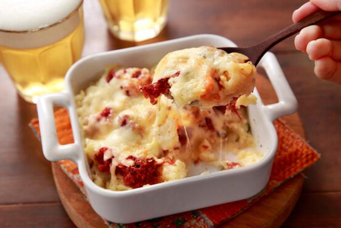 簡単ポテトサラダチーズ焼き