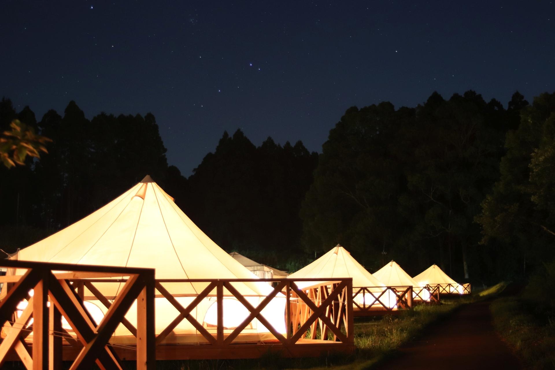 THE FARM CAMP(ザファーム・キャンプ)の夜の状況