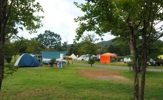 つくばねオートキャンプ場のテント風景