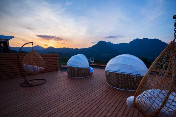 妙義温泉・妙義グリーンホテル&テラスのグランピング風景2