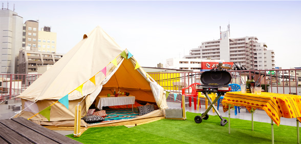 シモキタテラスのテント風景