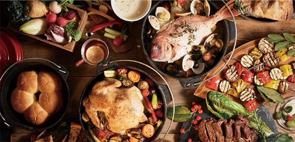 シモキタテラスの料理風景