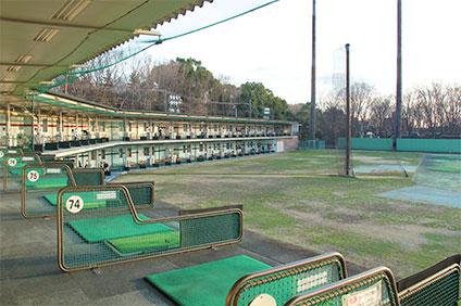 大蔵第二運動場トレーニングルームのゴルフ練習場
