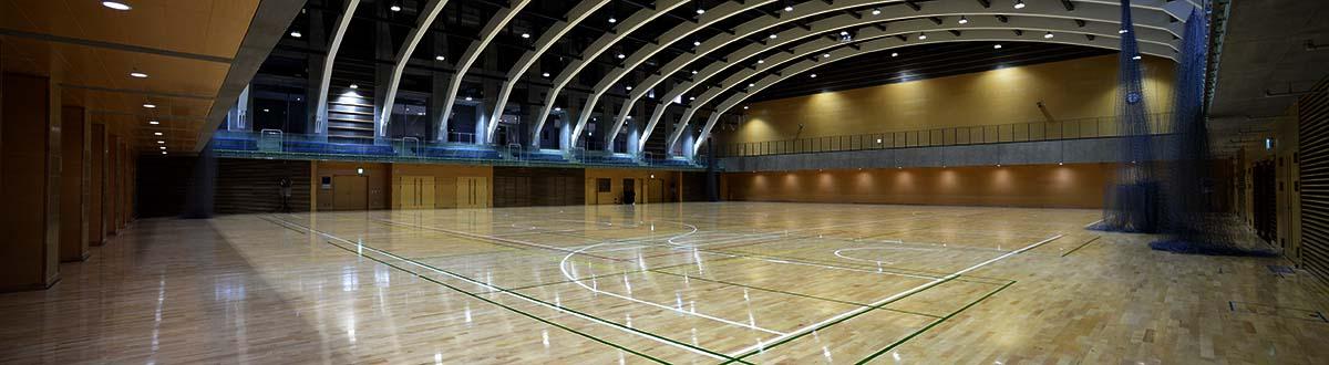 SUBARU(スバル)総合スポーツセンターのアリーナ風景