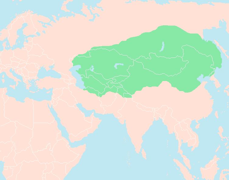 Bản đồ đế chế Mongol (1227)