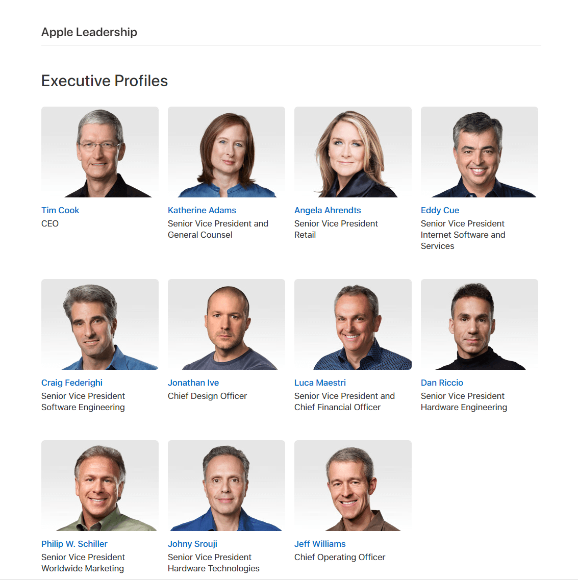 Apple幹部