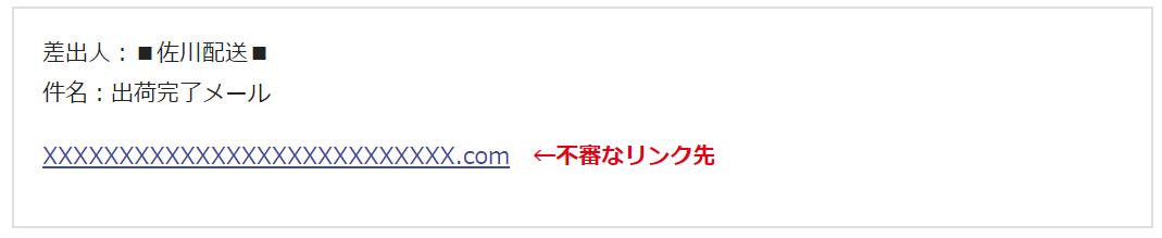 佐川急便偽SMS