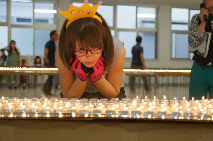 1人でローソク10,000本を吹き消すために、三重県亀山市に行ってきた