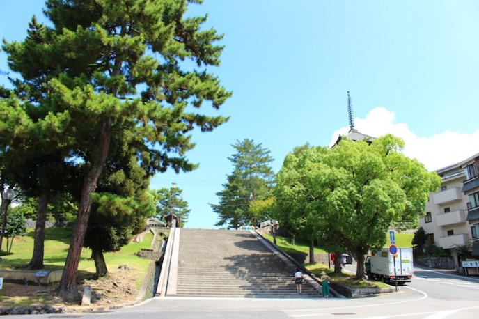 興福寺へ向かう52段の階段
