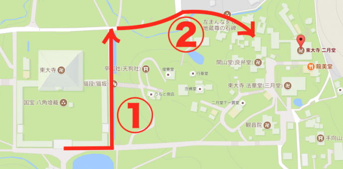 地図:Google,ZENRIN