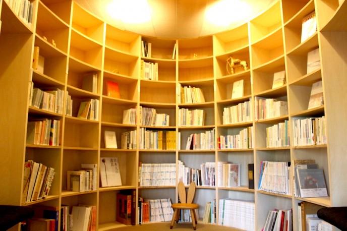 変わった形の図書室