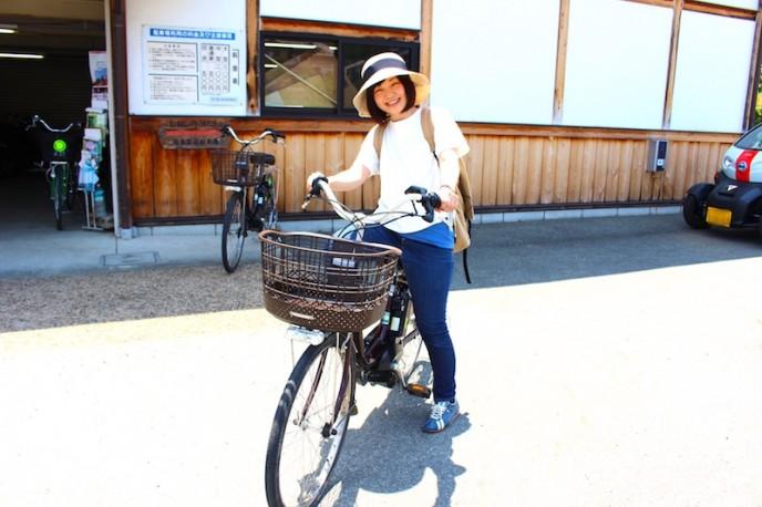 電動自転車でスタート