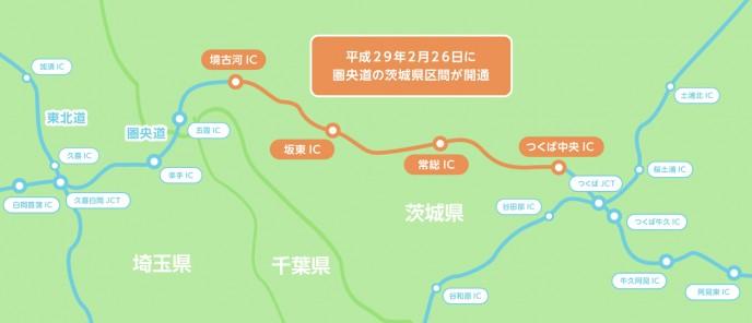 圏央道の図
