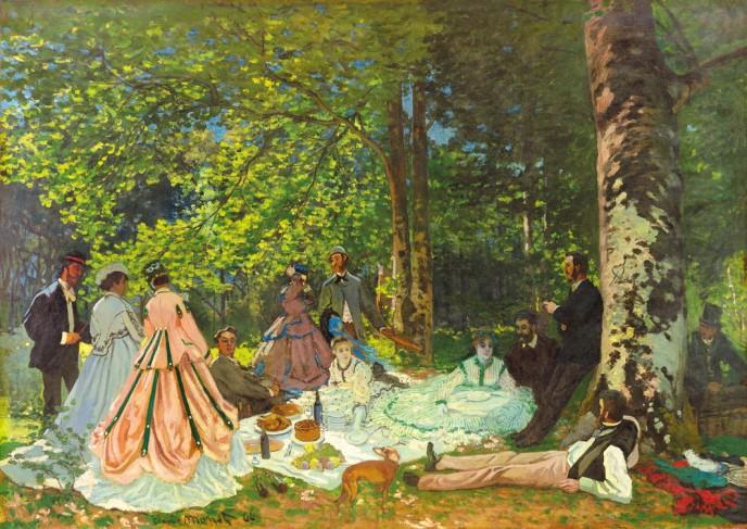 クロード・モネ 《草上の昼食》 1866年 © The Pushkin State Museum of Fine Arts, Moscow.