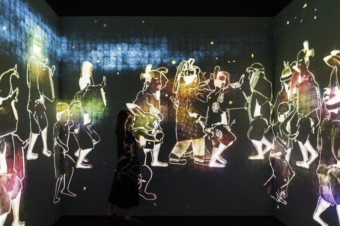 『Walk, Walk, Walk: Search, Deviate, Reunite』photo by teamLab