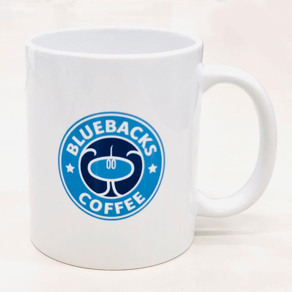 ブルーバックスマグカップ表側ロゴ