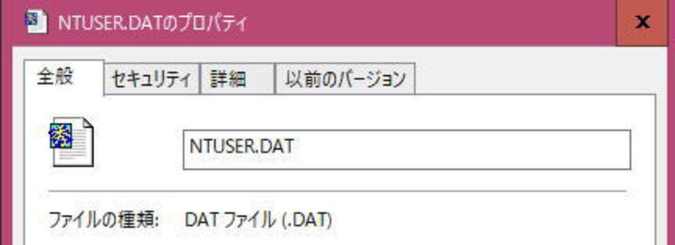 ntuser datというファイルは何?削除してはいけないの?