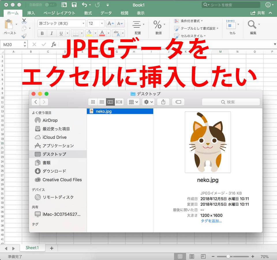 エクセルでjpegを貼り付ける方法!画像つきでわかりやすく紹介!