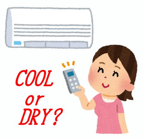 エアコンのドライ(除湿)とは?電気代や温度や仕組み!冷房と違いは?