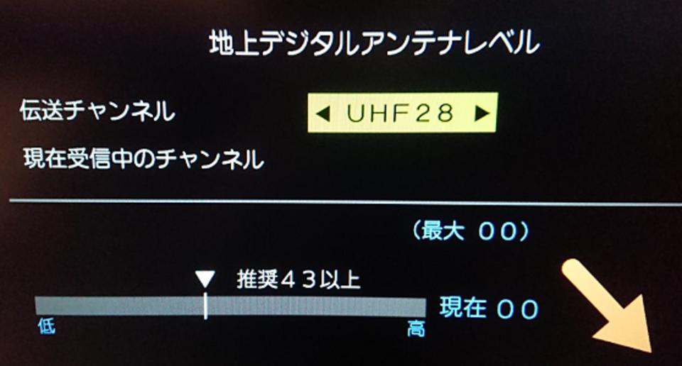 アンテナ設定 REGZA テレビ