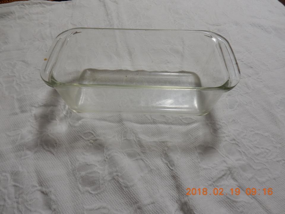 耐熱ガラスの容器