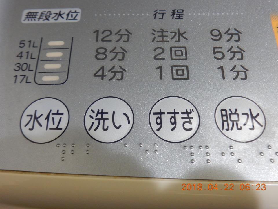 洗濯機の各行程
