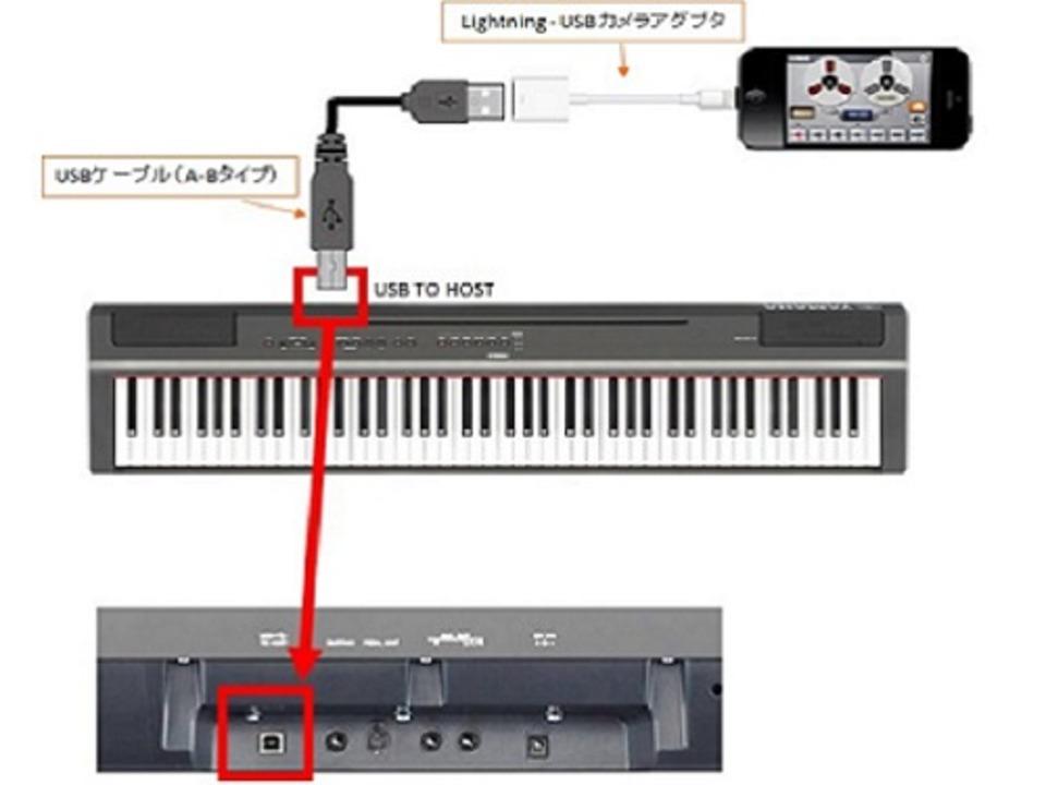 ピアノ 録音 接続