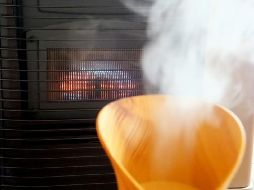 加湿器の蒸気が寒い
