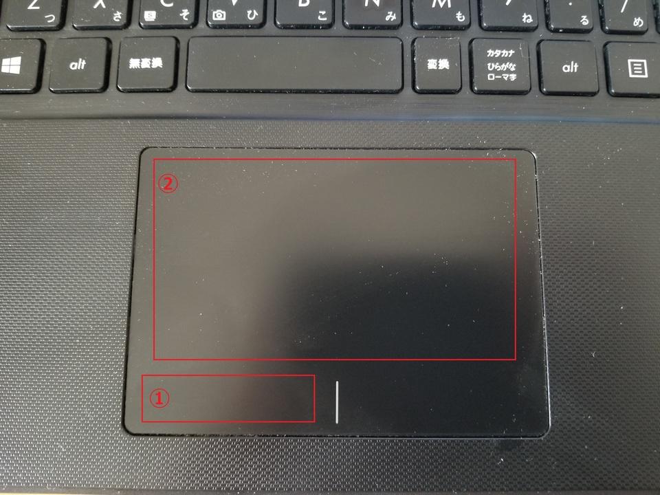 ノート パソコン タッチ パッド 使い方