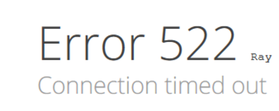 error 522