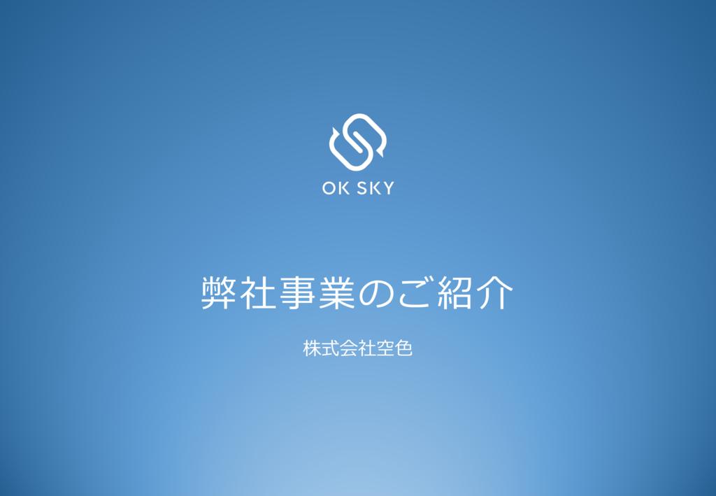 OK SKYの資料