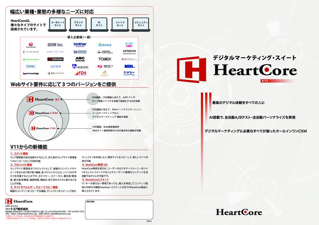HeartCoreの資料