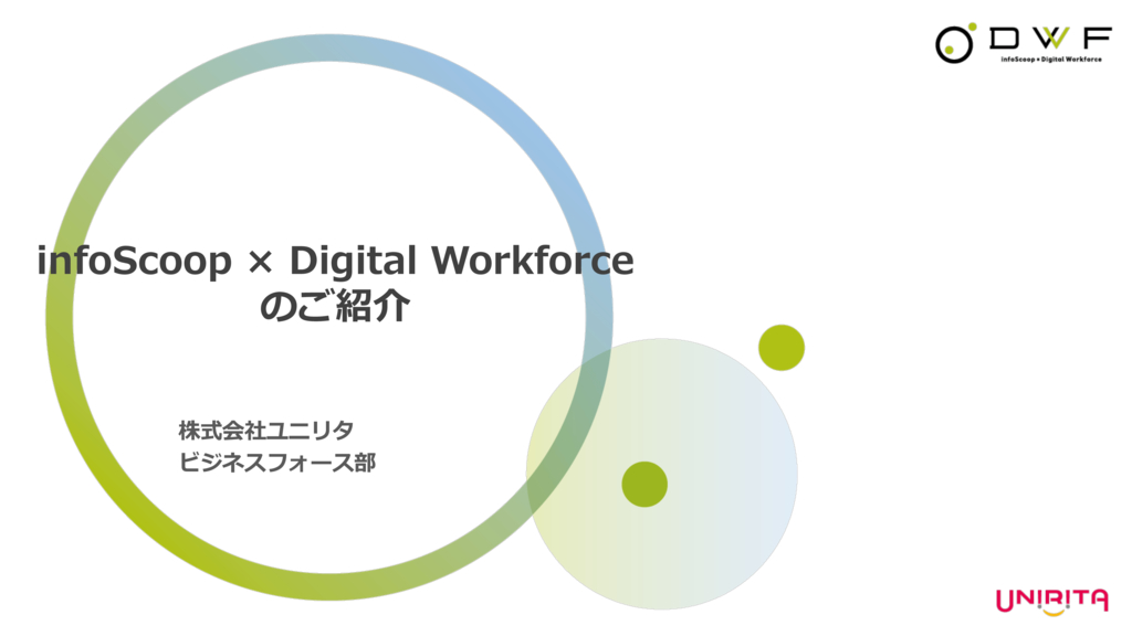 infoScoop x Digital Workforce の資料