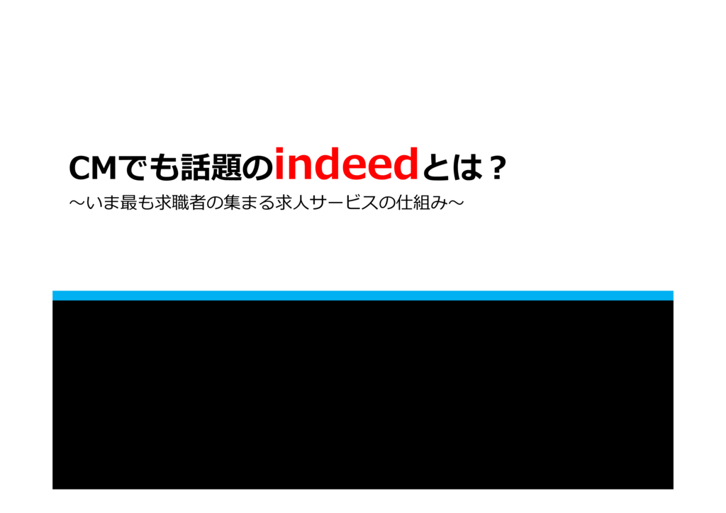 【Indeed】無料掲載で効果が出なかった企業様へ!クリック課金の新しい運用型求人広告の資料