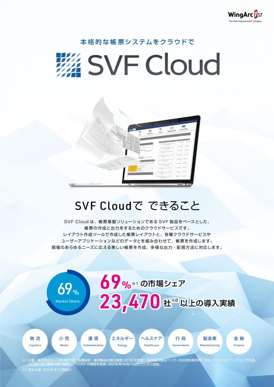 帳票クラウドサービス SVF Cloudの資料