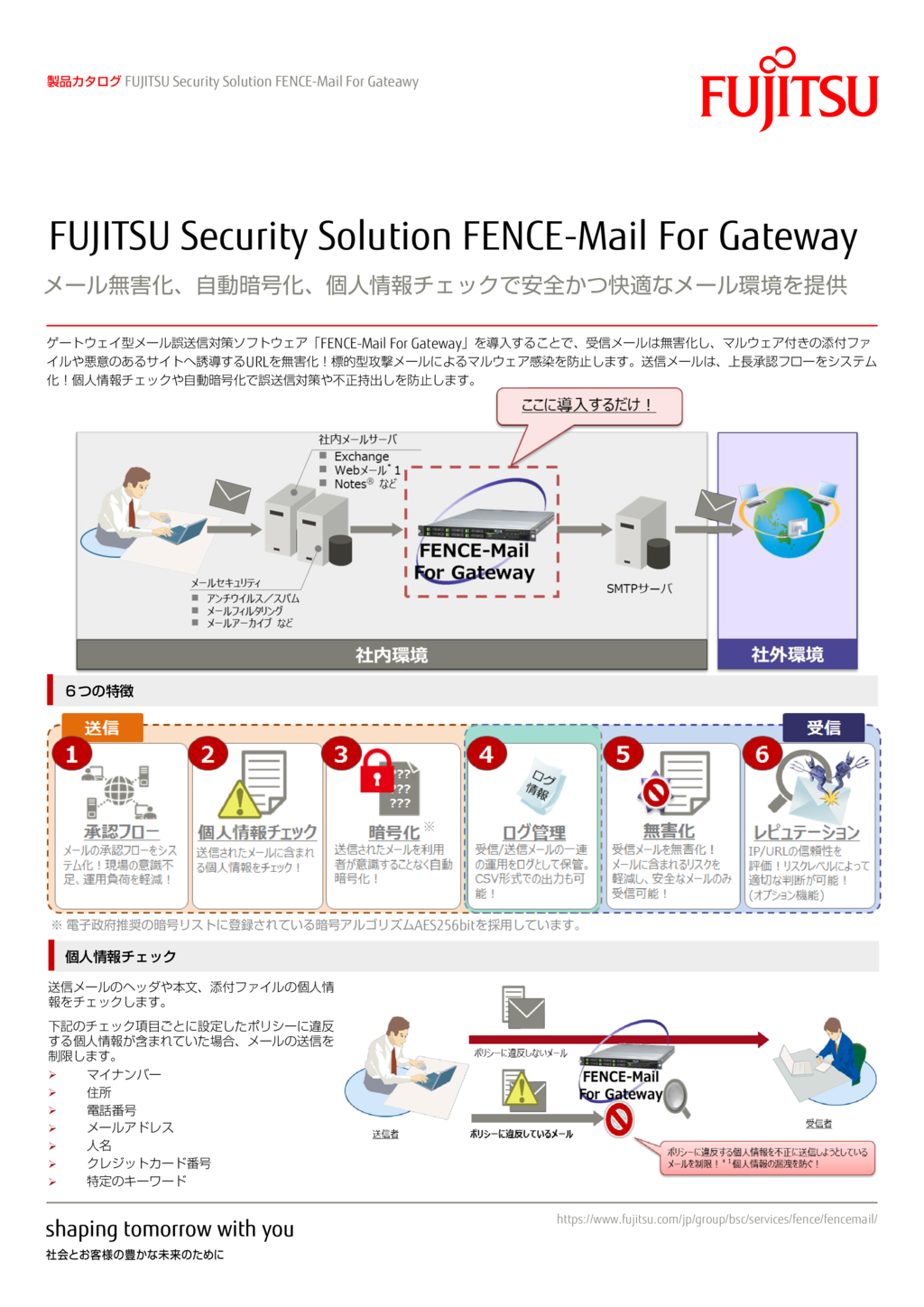 FENCE-Mail For Gatewayの資料