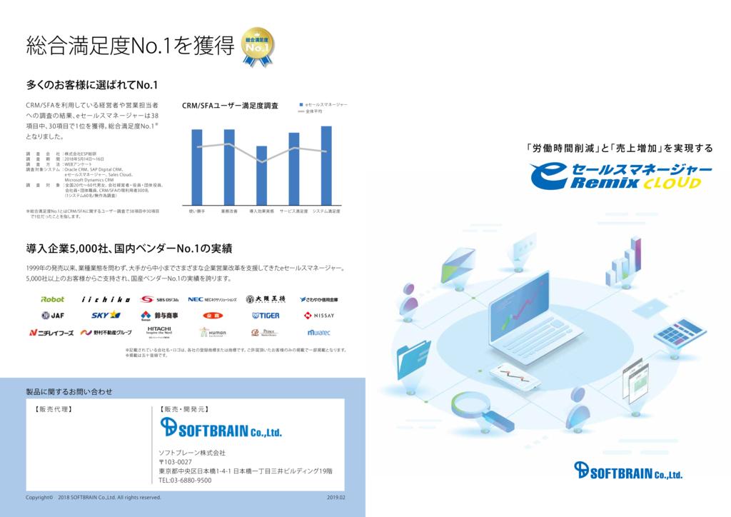 eセールスマネージャーRemix Cloudの資料
