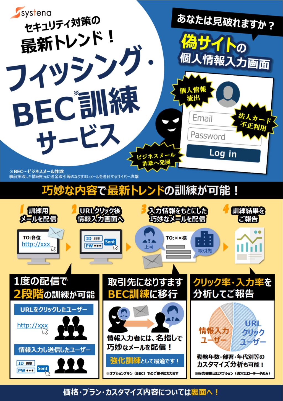 フィッシング・BEC訓練の資料