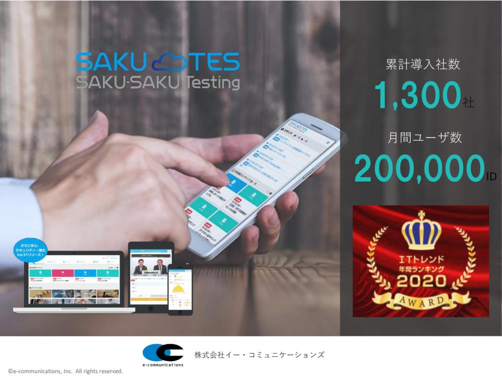 SAKU-SAKU Testingの資料