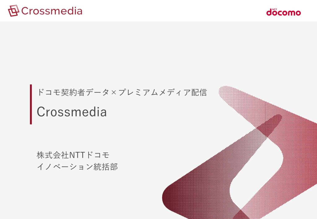 プレミアムメディア配信「Crossmedia」※視聴専用画面付き動画広告を追加の資料