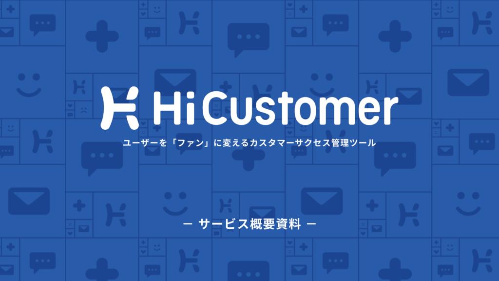 HiCustomer(ハイカスタマー)の資料