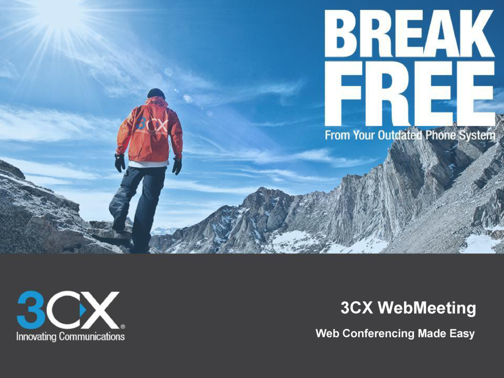 3CX WebMeetingの資料
