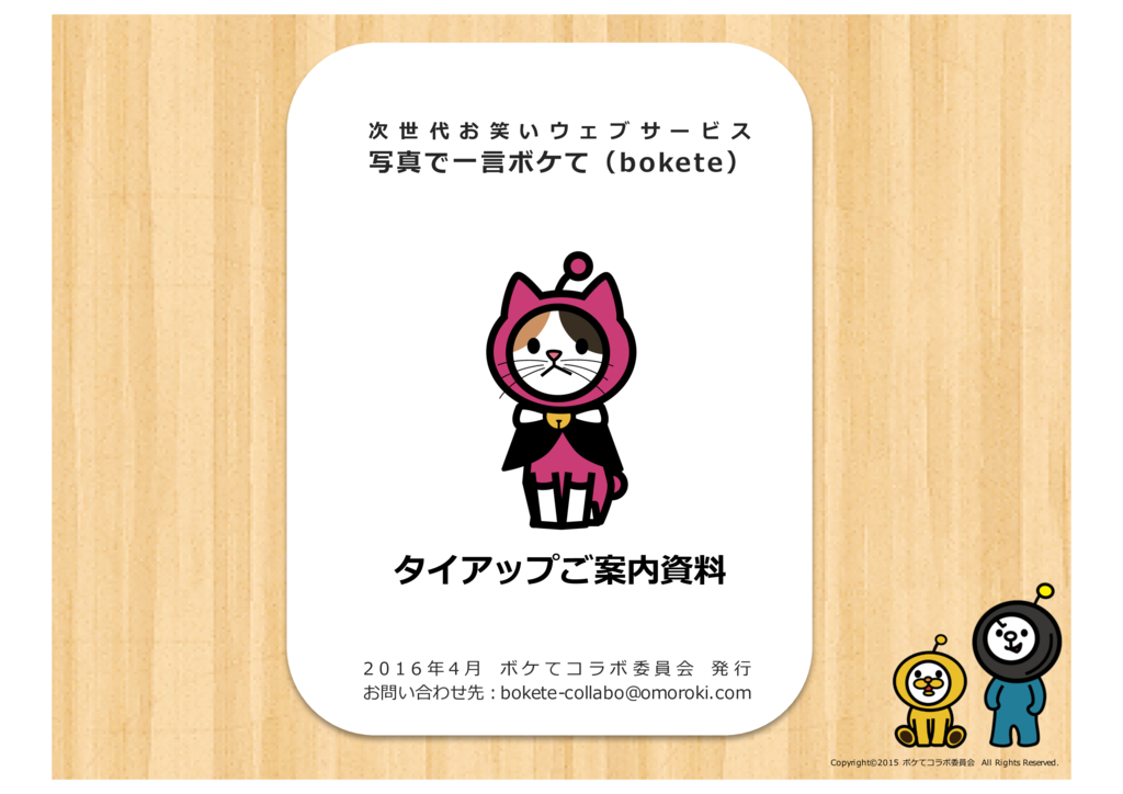 bokete(ボケテ)の資料