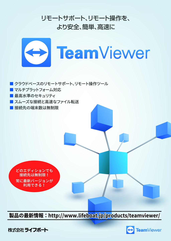リモートコントロールを、より安全、簡単、強力に『TeamViewer 』の資料