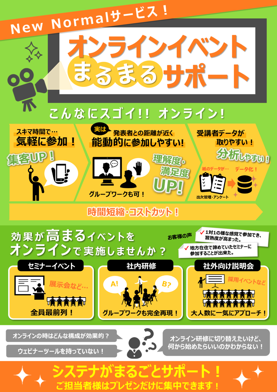 オンラインイベント~運営サポートサービス~の資料