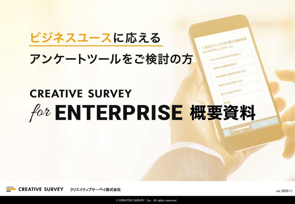 CREATIVE SURVEYの資料