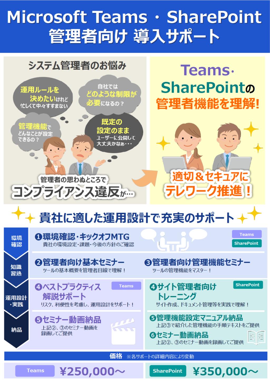 Microsoft Teams・SharePoint管理者向け導入サポートの資料